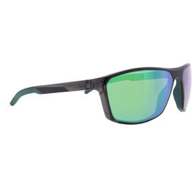Red Bull SPECT Raze Sunglasses Men, shiny x'tal dark grey/green-green mirror